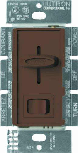 Lutron S-603P-BR Skylark 600-watt 3-Way Dimmer, Brown