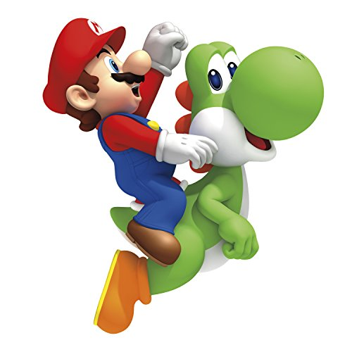 RoomMates RMK1918GM Ninetendo - Yoshi/Mario Peel & Stick Giant Wall Decals, 23'' x 32'', Multicolor by RoomMates (Image #1)
