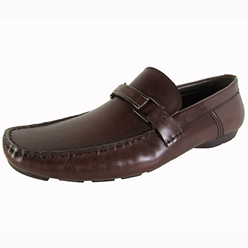 Kenneth Cole Mens Privata Is-land Läder Ankel-high Loafer Brun