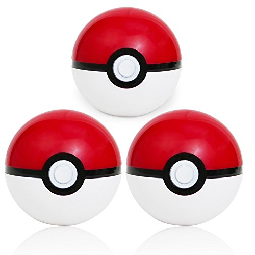 Katara Costume Accessories (Pokemon Pokeball Toy: Plastic Novelty Anime Ball for Children: Cosplay for Halloween Costumes: 3 Pack)