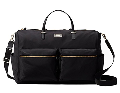 Kate Spade New york Wilson Road Carmella Weekender Duffle Travel Bag Black Nylon by Kate Spade New York