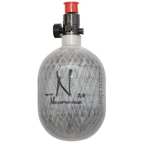 Ninja Carbon Fiber HPA Tank - 50/4500 - Grey (Best Carbon Fiber Paintball Tank)