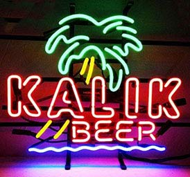 - Neon princess Factory 19x19 inches Kalik Palm Handmede Real Glass Tube Neon Light Home Beer Bar Pub Recreation Room Game Lights Windows Signs