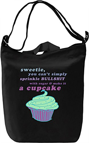 Cupcake Borsa Giornaliera Canvas Canvas Day Bag| 100% Premium Cotton Canvas| DTG Printing|