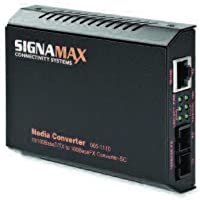 Signamax 065-1100NS 100BaseTX to 100BaseFX Media Converter ST/MM