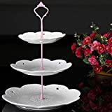 7thLake 3 Tier Crown Cake Cupcake Plate Stand Handle for Dessert Fruit Appetizer Party Wedding Holiday Dinners(Not Include Plate)