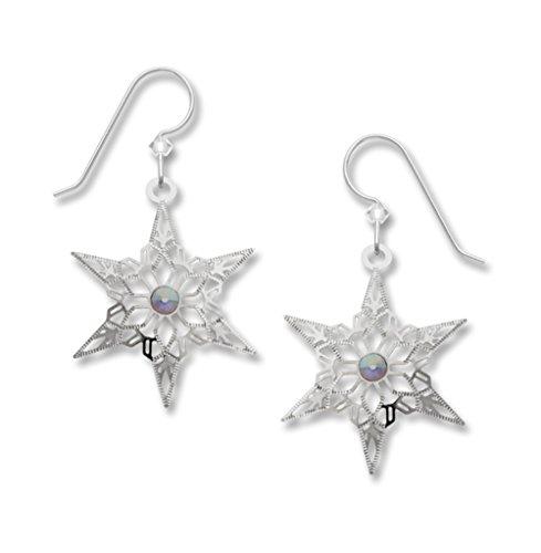 Lemon Tree Lightweight Dangle Sparkly Snowflake Earrings 1960