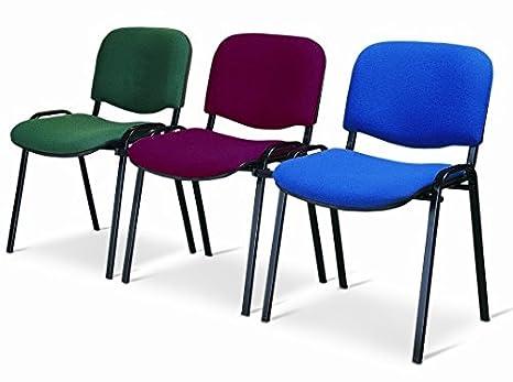 Europrimo sedia da ufficio poltrona fissa per sala attesa metallo e