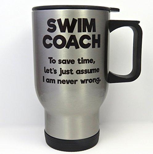 Swim Coach Travel Mug, Stainless Steel -