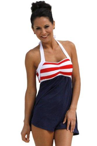e4b1949cd8b0a Sailor Girl Swim Dress Tankini Sold as Top, Bottom or Set at Amazon Women's  Clothing store: