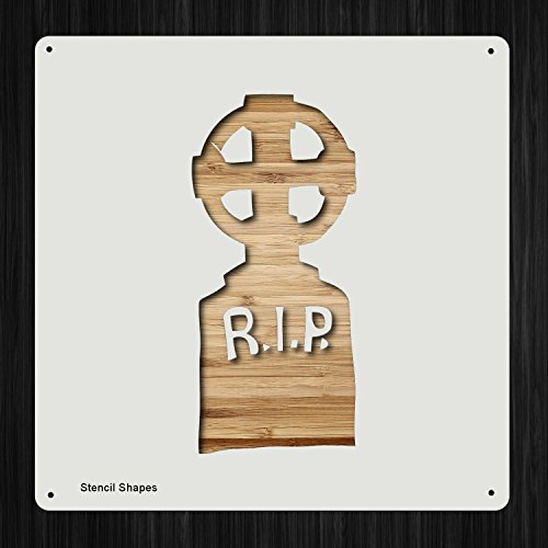 Halloween Tombstone Plastic Mylar Stencil for Painting, Walls and Crafts, Item -