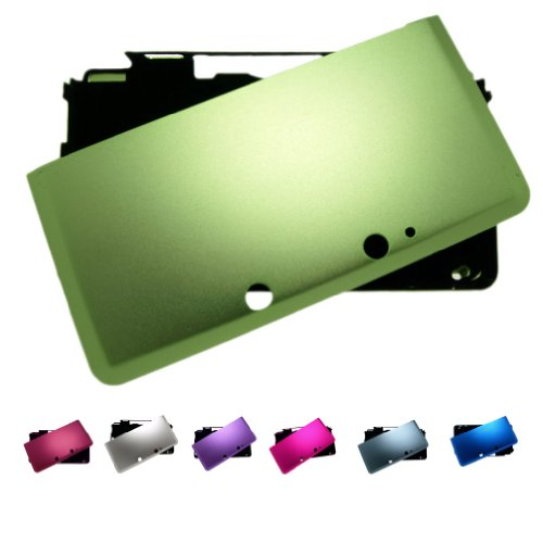Green Aluminum Case (GREEN Nintendo 3DS (Not for XL) FULL Aluminum Metal Case Protector Cover + Free Screen Protectors (Many Colors Available), GREEN)