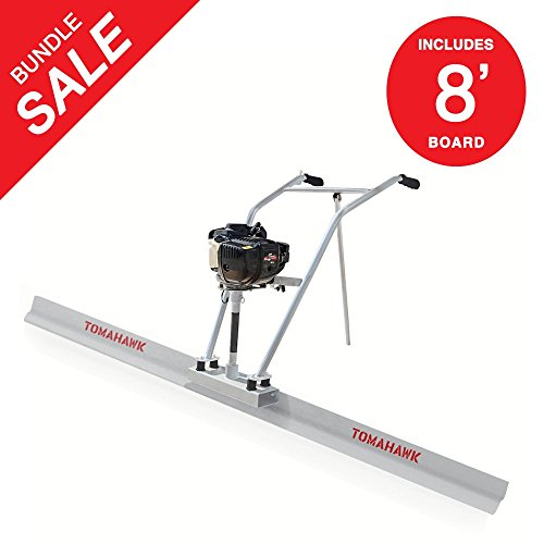 - 37.7cc 4 Stroke Gas Concrete Wet Power Screed Cement Assembly (Engine + 8' Blade)