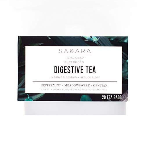 Sakara Superherb Herbal Tea for Digestion and Bloat 20pk - Gentian Angelica Bitters