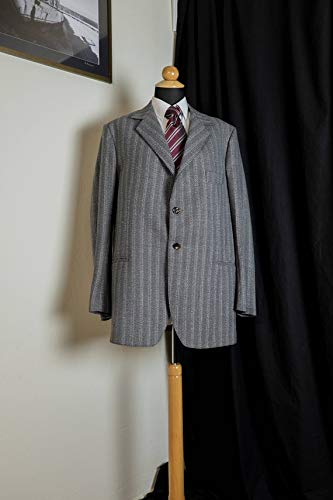 Michealboy Men Gray Plaid Slim Fit Single Breasted Suit Business Party Custom Made