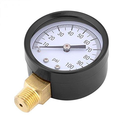 0-100PSI 1/4 BSPT Pressure Gauge Manometer Water Oil Air Barometer Pressure Meter