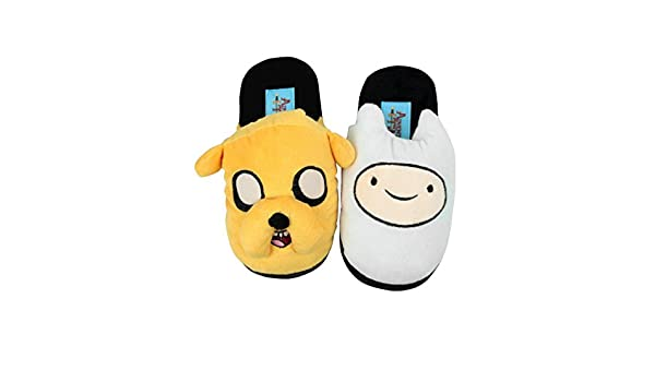 Amazon.com | Adventure Time Official Childrens/Kids Finn and Jake Slippers (11-12 Child US) (Multicoloured) | Slippers