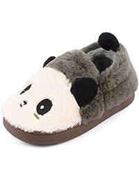 Kids Panda Slippers Plush Animal Autumn and Winter Warm Cotton Shoes Toddler