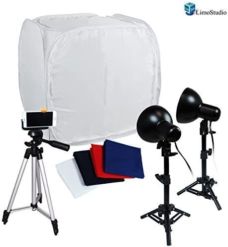 30 Tents Softboxes Continous Light with 50 Camera Camcorder Stand Tripod AGG1720 LimoStudio Table Top Photography Photo Tent Kit