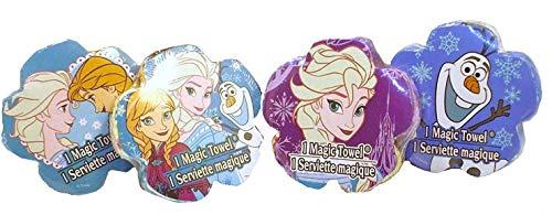 Disney Frozen Magic Pop-Up Towels/Wash Cloths (4 Designs) - Elsa, Olaf, Elsa & Anna, Elsa and Anna & Olaf