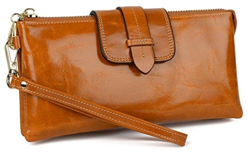 YALUXE Leather Smartphone Wristlet Shoulder