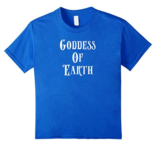 Kids Goddess Of Earth Shirt Peace Vibrations Hippy Hippie Costume 6 Royal Blue