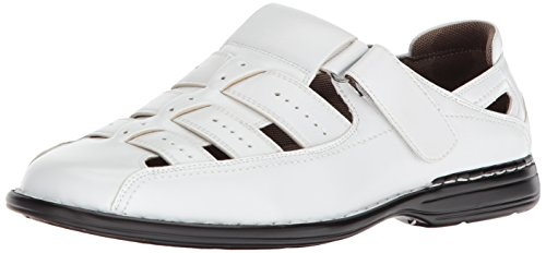STACY ADAMS Men's Bridgeport Closed Toe Fisherman Sandal, White 11 M US