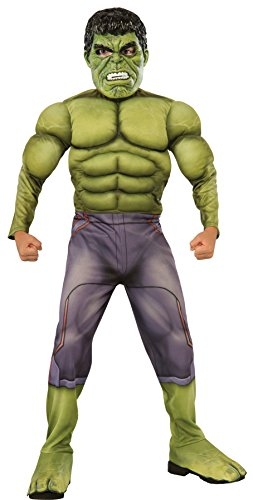 UHC Boy's Incredible Hulk Theme Party Outfit Kids Halloweem Costume, L (12-14)