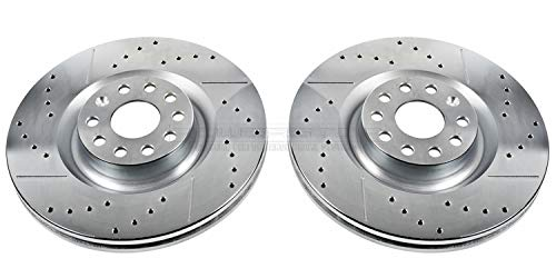 Power Stop EBR832XPR Front Evolution Drilled & Slotted Rotor Pair