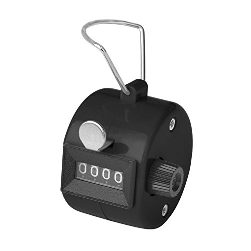 (GOGO Counter Handheld Tally Counter 4 Digit Display for Lap Sport Coach School Event)
