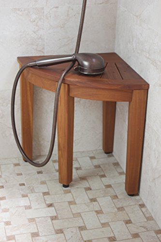 15 5 Teak Shower Bench From The Corner Collection New Ebay