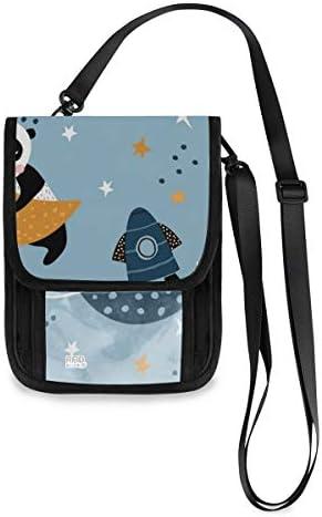 トラベルウォレット ミニ ネックポーチトラベルポーチ ポータブル パンダ柄 小さな財布 斜めのパッケージ 首ひも調節可能 ネックポーチ スキミング防止 男女兼用 トラベルポーチ カードケース