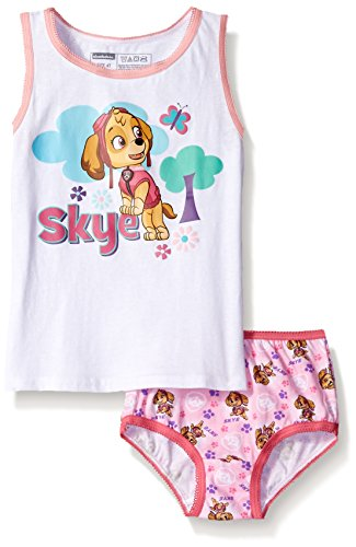 Nickelodeon Toddler Girls' Paw Patrol Skye Underwear and Tank Set, Assorted, 4T (Girls Nickelodeon Underwear)