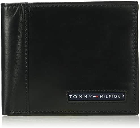 Tommy Hilfiger Men's RFID Blocking 100% Leather Cambridge Passcase Wallet
