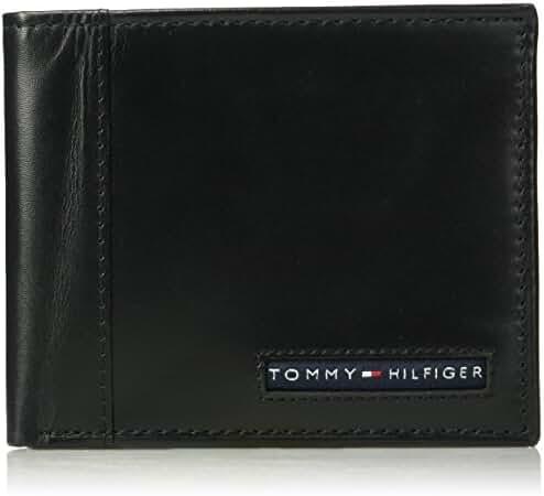 Tommy Hilfiger Men's RFID Blocking 100% Leather Cambridge Passcase Wallet