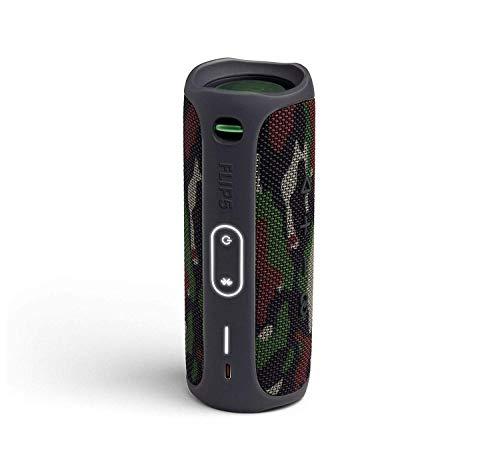 JBL Flip 5 Waterproof Portable Wireless Bluetooth Speaker Bundle with USB 2.0 Bluetooth Adapter - Camouflage