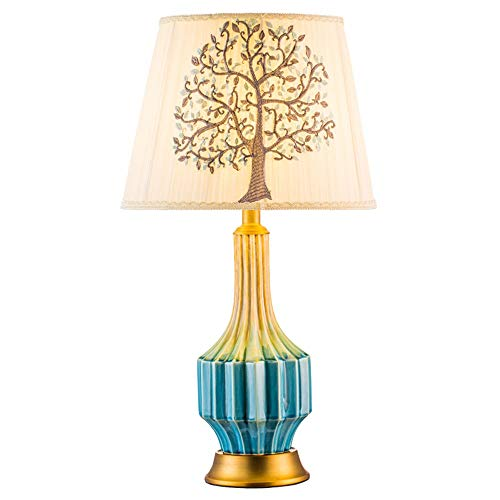 - MQQ Chinese Pastoral Desk lamp Living Room Bedroom Study Desk lamp