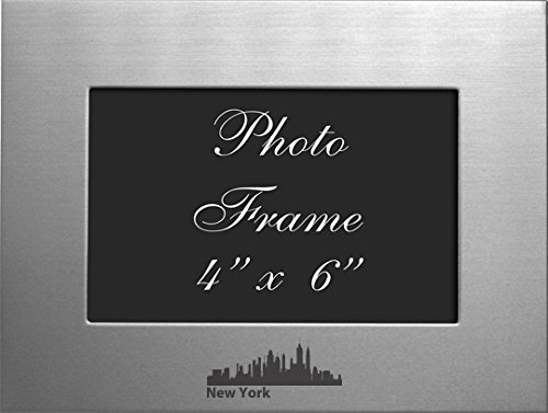 NYC, New York-4x6 Brushed Metal Picture - Nyc Frame Store