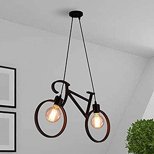 R@DIANT RLH-0172 40-Watts Black Cycle Hanging Lamp With Holder for Home Decoration