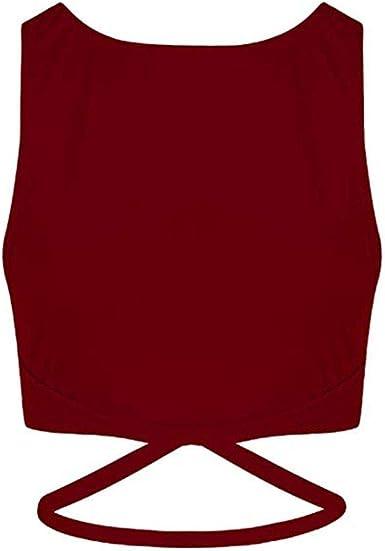 Chaleco de Mujer Camiseta Sin Mangas Color sólido Simple Top ...
