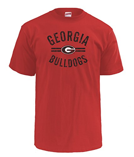 NCAA Georgia Bulldogs Men's Pro Weight Short Sleeve College Logo Tee, Medium