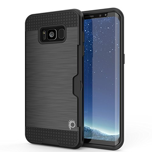 Galaxy S8 Plus Case, PUNKcase [SLOT Series] [Slim Fit] Dual-Layer Armor Cover w/Integrated Anti-Shock System, Credit Card Slot & PunkShield Screen Protector for Samsung Galaxy S8+