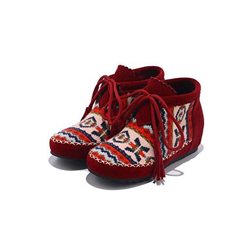 Cerrados Zapatos Rojo Adeesu Para Mujer x58f7O