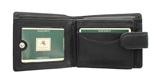 Bank amp; 6 Boxed Mens Black Quality Gift Notes Visconti Soft Wallet For Cards Coins Credit Leather qSFPv