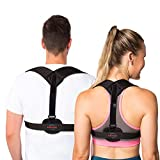 Posture Corrector for Men and Women - Back Brace Effective Solution for Upper Back Pain Shoulder Alignment Thoracic Support Kyphosis Slouching and Hunching - Comfortable Adjustable Clavicle Support