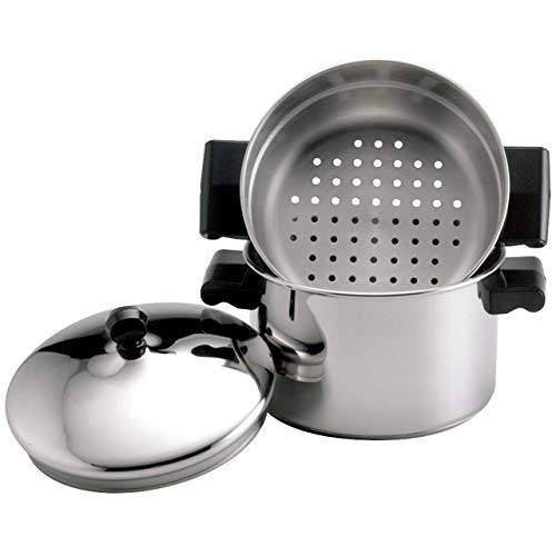 Farberware Classic Stainless Steel 3-Quart Covered Stack 'n' Steam Saucepot and Steamer -