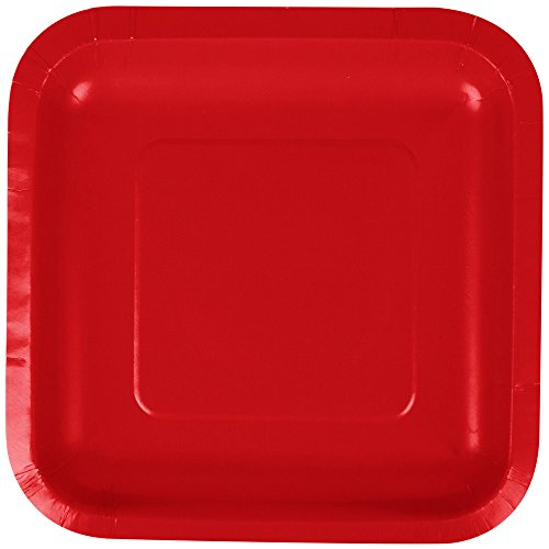 Touch of Color Square Paper Dessert Plates, 180-Count, Classic Red by Creative Converting