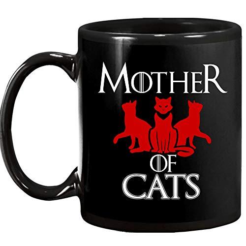Mother Of Cat 11 Oz Black Mug ()