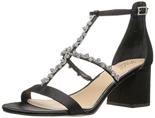 Jewel Badgley Mischka Women's Alamea Heeled Sandal, Black, 6.5 Medium US
