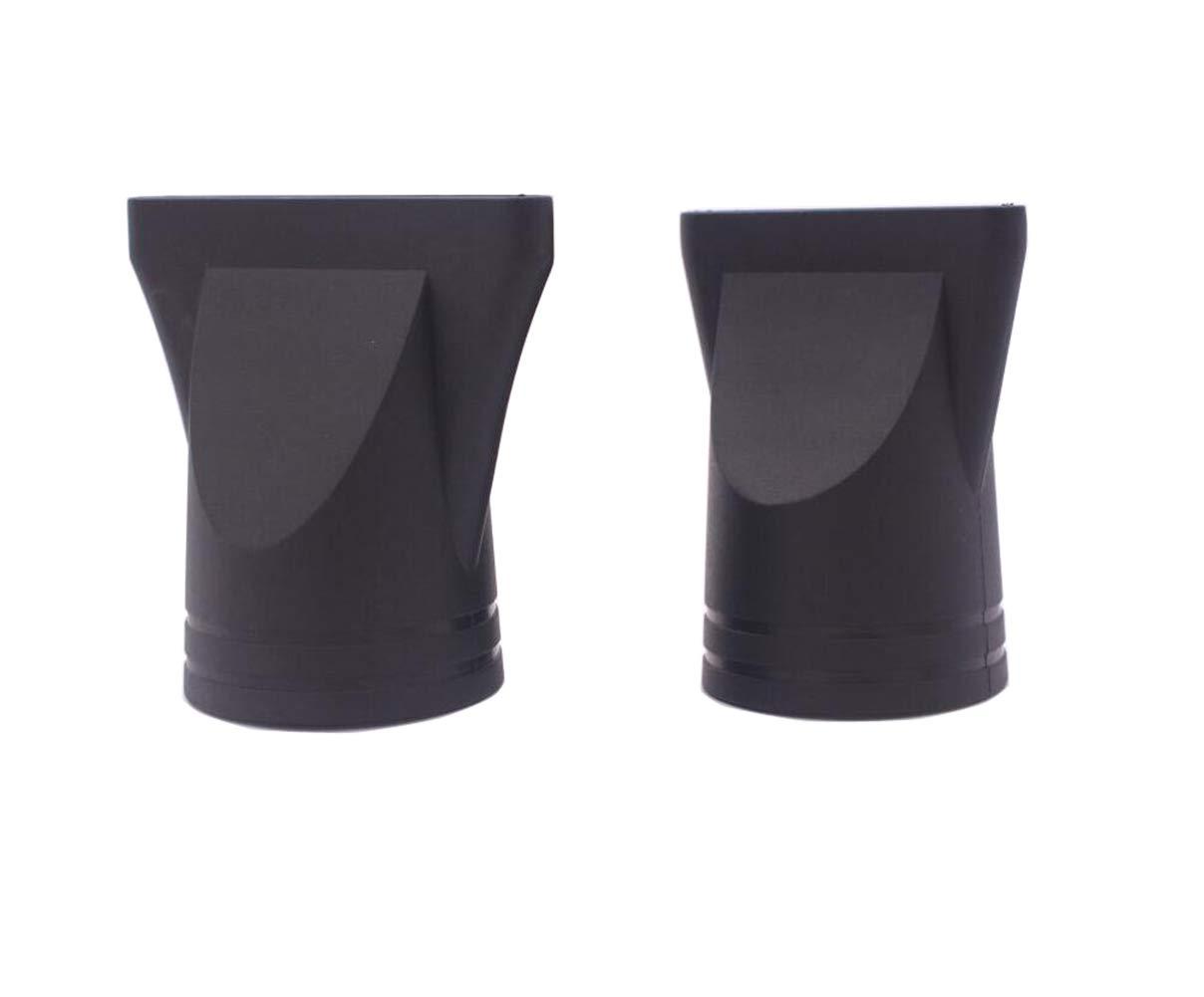 2PCS(Non-Universal) Black Professional Plastic Salon Hair Dryer Nozzle Replacement Narrow Concentrator Replacement Blow Flat Hair Drying Nozzle Special for Outer Diameter 4.5cm and 4.6cm